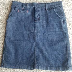 Old navy stretch dark wash denim pencil skirt 10